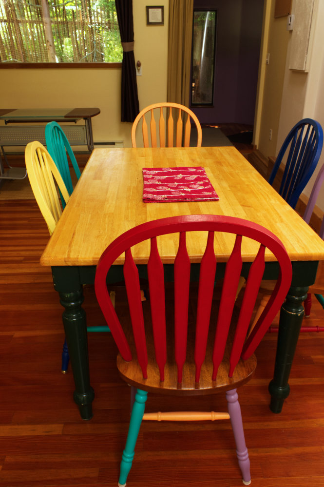 Guesthouse dining table